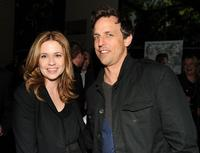 Jenna Fischer and Seth Meyers at the after party of the New York premiere of