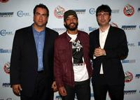 Rob Riggle, Wyatt Cenac and John Oliver at the Comedy Central's Indecision 2008 Election Night viewing party.