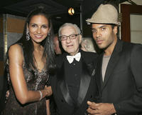 Susan Fales-Hill, Sy Kravitz, and Lenny Kravitz at the 80th birthday party for legendary musician Bobby Shortin New York.