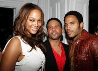 Tyra Banks, Benny Medina and Lenny Kravitz at the Benny Medina Birthday Bash.