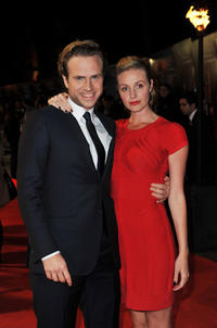 Rafe Spall and Elize du Toit at the premiere of