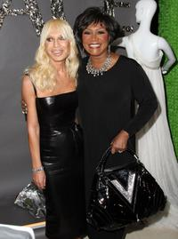 Donatella Versace and Patti LaBelle at the Barneys New York launch of Versace menswear.