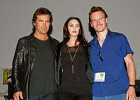 Josh Brolin, Megan Fox and Michael Fassbender at the panel discussion of