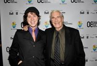 Director Nicholas Fackler and Martin Landau at the premiere of