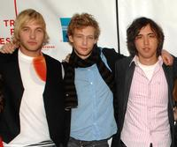 Ryan Hansen, Johnny Lewis and Brad Leong at the premiere of