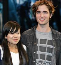 Katie Leung and Robert Pattinson at the press conference of