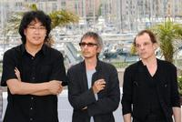 Bong Joon Ho, Leos Carax and Denis Lavant at the screening of