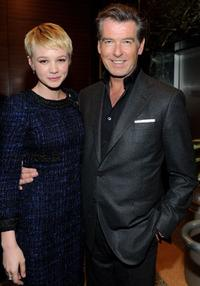 Carey Mulligan and Pierce Brosnan at the after party of the California premiere of