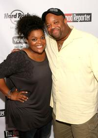 Yvette Nicole Brown and Mark Christopher Lawrence at the Rock Star Media Lounge during the Comic-Con 2010.