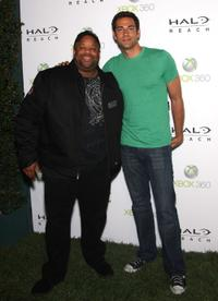 Mark Christopher Lawrence and Zachary Levi at the launch of XBox 360's
