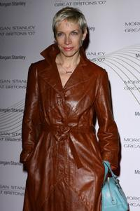 Annie Lennox at the Morgan Stanley Great Britons Awards.
