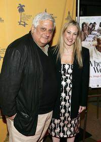 Michael Lerner and Hilary Helstein at the premiere of