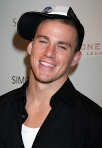 Channing Tatum at the Stone Rose Lounge and Simon LA preview.