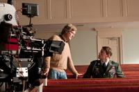 Director Lasse Hallstrom and Channing Tatum on the set of