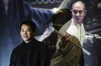 Jet Li at a news conference in Seoul for