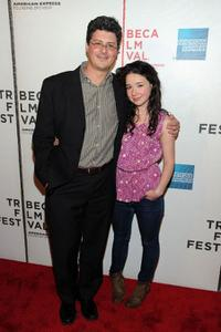 Anthony Bragman and Sarah Steele at the premiere of