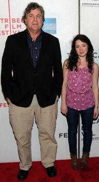 Tom Bernard and Sarah Steele at the premiere of