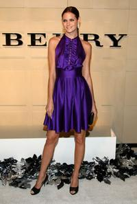 Mini Anden at the grand re-opening of Burberry Beverly Hills store.
