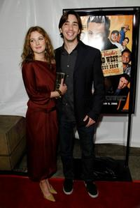 Drew Barrymore and Justin Long at the premiere of
