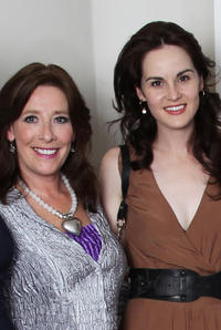 Phyllis Logan and Michelle Dockery at the Evening with Downton Abbey Raising Money For Merlin