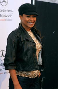 Nia Long at the Mercedes Benz Fashion Week.