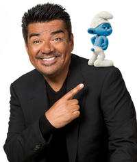George Lopez on the set of