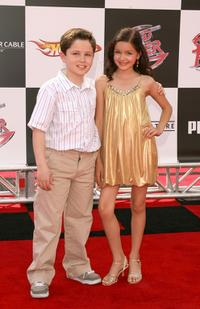 Nicholas Elia and Ariel Winter at the premiere of