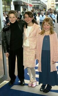 Rory Copus, Yasmin Paige and Maisie Preston at the UK Premiere of