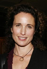 Andie MacDowell at the LAByrinth Theater Company's 5th annual Celebrity Charades at St. Paul's Hall.