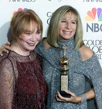 Shirley MacLaine and Barbra Streisand at the 57th Golden Globes.