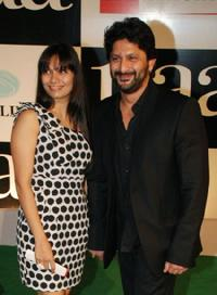 Maria and Arshad Warsi at the premiere of