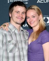 Jason Ritter and Jess Weixler at the premiere of