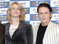 Alice Taglioni and Benoit Magimel at the press conference for promoting