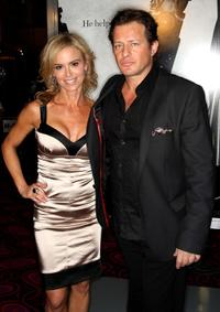 Betsy Russell and Costas Mandylor at the premiere of