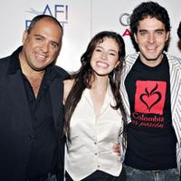 Director Emilio Maille, Flora Martinez and Manolo Cardona at the North American premiere of