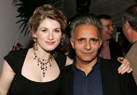 Jodie Whittaker and Screenwriter Hanif Kureishi at the party of