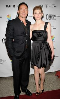 Jason Isaacs and Jodie Whittaker at the premiere of