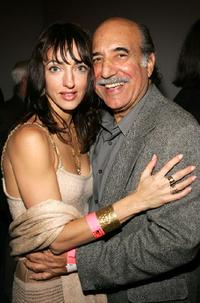 Lorena Feijoo and William Marquez at the after party of