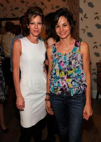 Robbie Myers and Stephanie Szostak at the Avon and Elle Magazine Celebrate May Issue with Fergie.