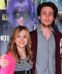 Chloe Grace Moretz and Aaron Johnson at the