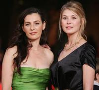 Ayelet Zurer and Rosamund Pike at the premiere of
