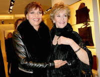 Elsa Martinelli and Jane Fonda at the 2nd Rome Film Festival, attends a cocktail party.