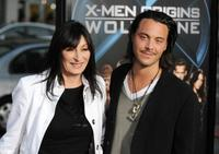 Anjelica Huston and Jack Huston at the screening of