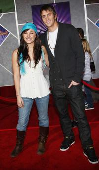 Briana Evigan and her guest at the premiere of