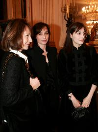 Nathalie Baye, Kristin Scott Thomas and Amira Casar at the ceremony of the Ministry of Culture.