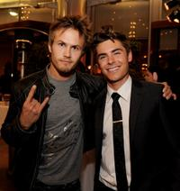 Jesse Kristofferson and Zac Efron at the after party of the California premiere of