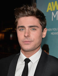 Zac Efron at the California premiere of
