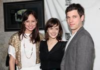 Alexie Gilmore, Marnie Schulenburg and Zack Robidas at the 24 Hour Musicals after party.