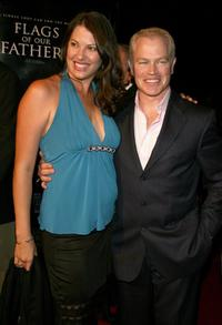 Neal McDonough and wife Ruve Robertson at the premiere of