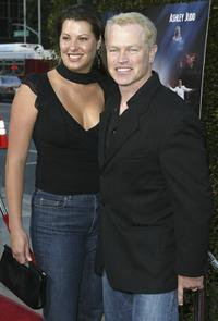 Neal McDonough and wife Ruve Robertson at the premiere of the